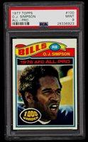 1977 Topps #100 O.J. Simpson PSA 9 MINT