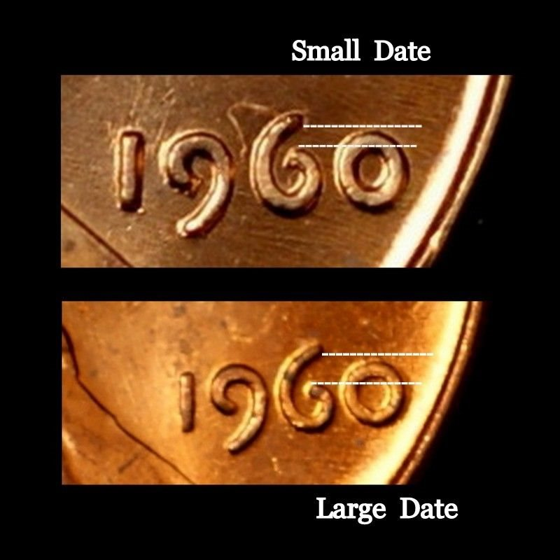 1960 P Lincoln Memorial Penny Large Date ~ Uncirculated Cent from Bank Roll