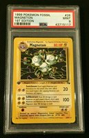 Magneton 26//62 Mint Pokemon Fossil Set 1st Edition Rare Card