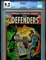Defenders #1 1972 CGC 9.2 Marvel Comics Amricons K12