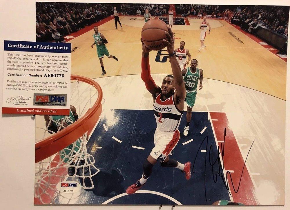 size 40 e21ab 06592 John Wall Autographed Signed 8x10 Photo PSA/DNA COA #2 Washington Wizards  NBA All Star RareCUSTOM FRAME YOUR JERSEY