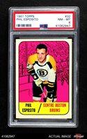 1967 Topps #32 Phil Esposito Bruins PSA 8 - NM/MT