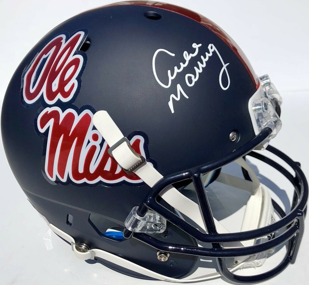 cheap for discount 11108 ddad7 Archie Manning #18 Autographed Signed Memorabilia Ole Miss Rebels Matte  Football Helmet - PSA/DNA AuthenticCUSTOM FRAME YOUR JERSEY