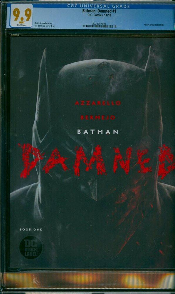 BATMAN DAMNED 2 CGC 9.9 LEE VARIANT UNCENSORED