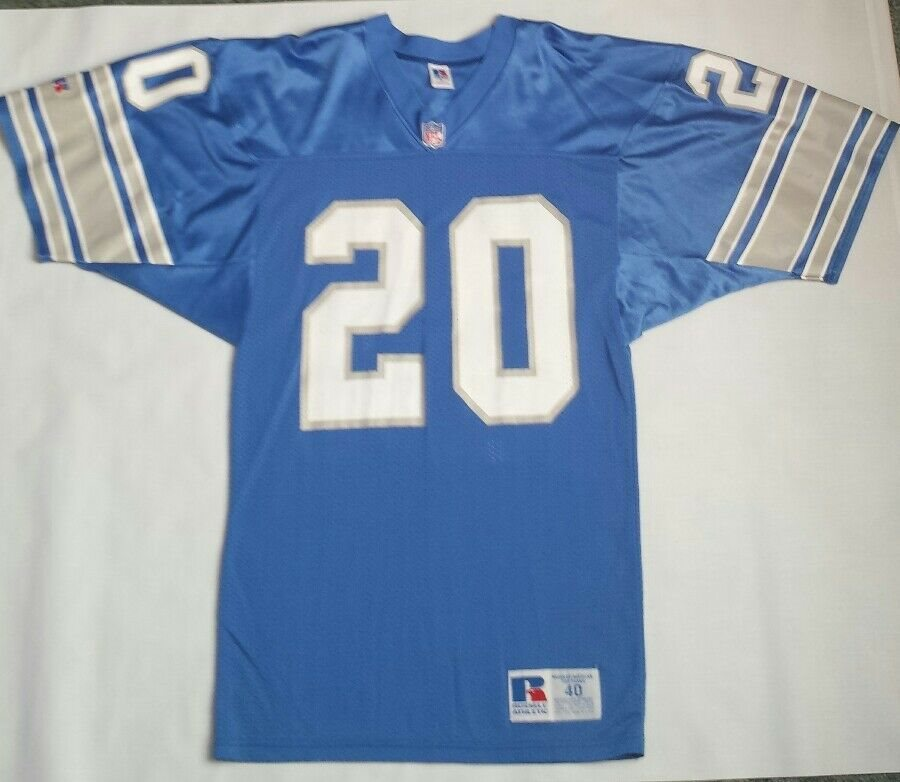 official photos 983f0 c1ff4 Vintage Barry Sanders Detroit Lions Russell Athletic Jersey Size 40