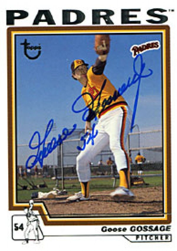 Goose Gossage Autographed Signed 2004 Topps No74 San Diego Padres Baseball Card