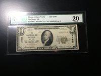 National Bank Note Homer New York PMG 20 Vf