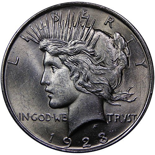 1922 Choice Brilliant Uncirculated Lustrous Peace Silver Dollar-Free Shipping