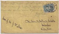 """CSA #11e (AD) OfficiallyPerforated 12 1/2 (margin close on the left but perfed onall 4 sides with the usual ragged and blind perfs) tied by thesmall double circleMobile, AlaCDS 23 DEC. Addressed to Miss Mollie McCalla, Columbus, Miss. Theoriginal letter is not with the cover. What appears to have happened isthat the envelope itself was used as paper to write another letter asthe wriitng on the back begins """"Dear Cousin"""" and extends onto the frontof the cover. The handwriting of the lette"""