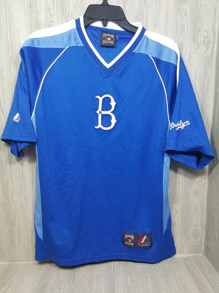 Vintage Brooklyn Dodgers Jersey Blue Majestic Coopersto 6226f2aab25