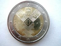 2 Euro Lithuania 2018 Baltic States 100th Anniversary Unc