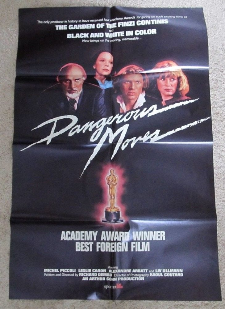 Dangerous Moves Original Folded Movie Poster France French 1984 Chess 27x41