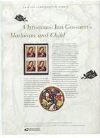 #3820 37c Gossaert's Madonna USPS #698 USPS Commemorative Stamp Panel