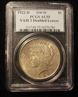 $1 1922 D Peace Silver Dollar PCGS AU55 – Vam 3 Doubled Leaves