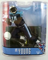 McFarlane NFL Football Action Figures Series 15: Vince Young Blue Pants Variant (Sub Standard Packaging)