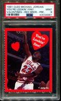 1991 CLEO MICHAEL JORDAN VALENTINES-RED BRDR YOU'RE POP 2 PSA 9 K2709923-661