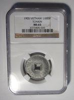 1905 Vietnam Tonkin 1/600 P NGC MS65