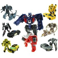 Transformers Toys 7pc Robots Autobots Cars Truck Helico