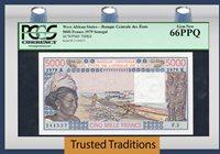 5000 Francs 1979 West African States / Senegal Pop One Pcgs 66 Ppq