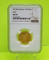 2017 Mexico 1/4 oz Gold Libertad Coin NGC MS68 - Mintage 500