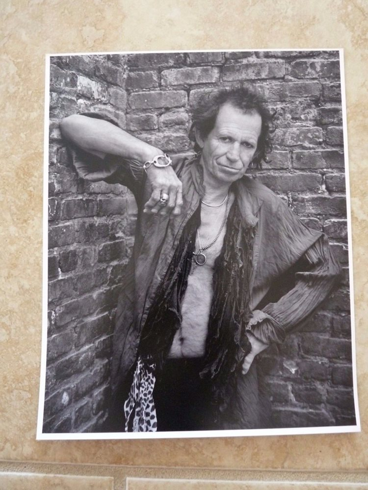 KEITH RICHARDS PHOTO ROLLING STONES 8x10 Concert Photo 1979 Photo Marty Temme 1A