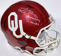 KYLER MURRAY  1 OKLAHOMA SOONERS SIGNED FOOTBALL F S HE d1eb4cb41