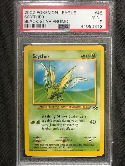 #45 SCYTHER NM POKEMON BLACK STAR PROMO CARD