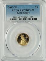 PCGS PR70 1/10 oz Gold Eagles