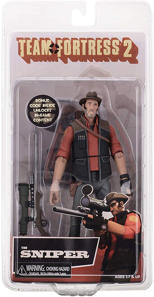 NECA Team Fortress 2  7″ Scale Series 4 RED Action Figures Medic Scout Sniper