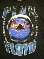 Pink Floyd Shirt Pyramid Space Dark Side of the Moon Split Graphic Men Small-2XL
