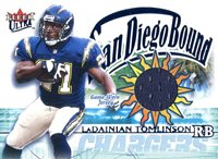 f3e697d2015 LaDainian Tomlinson Unsigned 2002 Fleer Jersey Card Hollywood Collectibles.  Buy   15.00