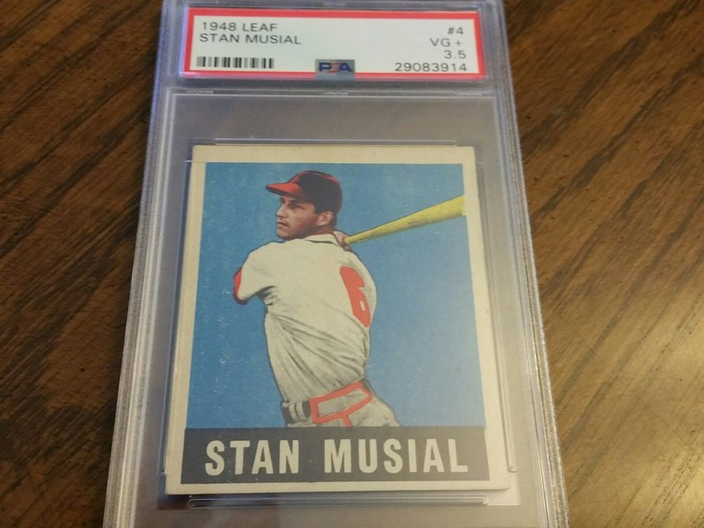 1948 Leaf Stan Musial Rookie Baseball Card 4 Psa 35 Vg Nicely Centered R