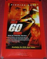 Gone in 60 Seconds 24x36inch Nicolas Cage Angelina Jolie Movie Silk Poster