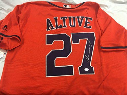 timeless design 18f66 bce0a Jose Altuve Autographed Signed Houston Astros Jersey GTSM Altuve Hologram