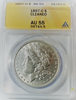 1897-O Morgan Silver Dollar ANACS Certified AU55 - NEW LOWER PRICE!