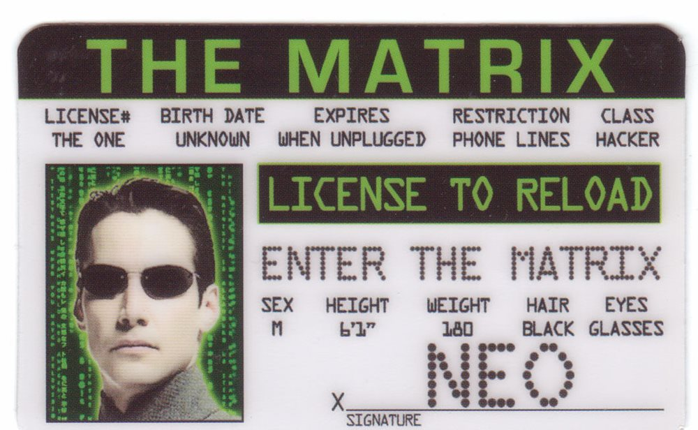Reeves Neo Matrix Line Phone Keanu Drivers The Hacker L
