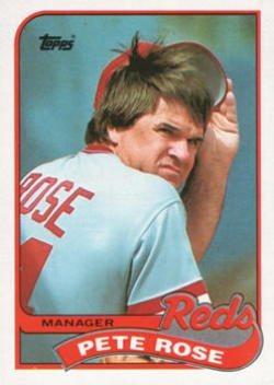 Pete Rose 1989 Topps Baseball Card 505