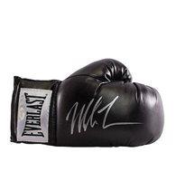 Mike Tyson Signed Black Everlast Boxing Glove - Signed Silver Autograph - Autographed Boxing Gloves