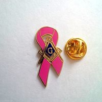 Masonic Cancer awareness Master Mason Lapel Pin Pink
