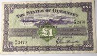 One pound 1963 Guernsey Paper