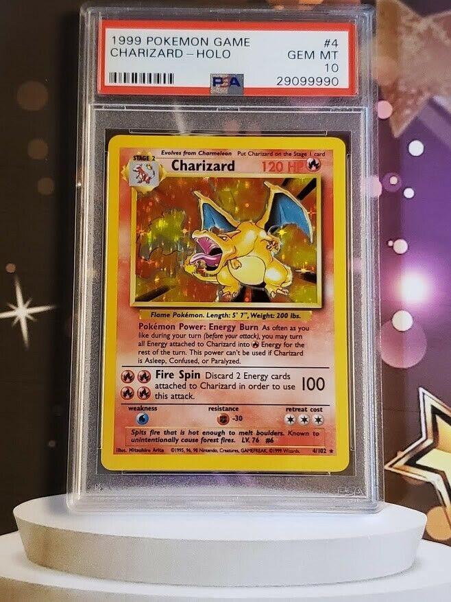 GEM MINT BGS 9.5 CHARIZARD 1999 Pokemon Base #4//102 Holo Rare PSA 10 Potent