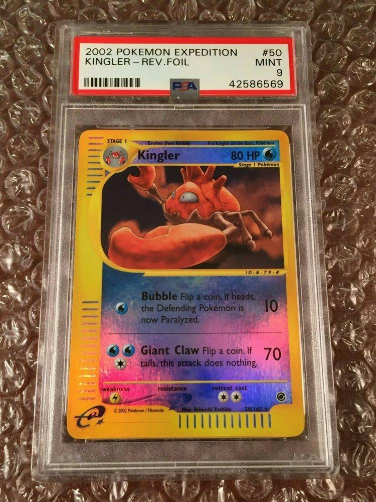 Pokemon Card Kingler 50//165 Expedition Rare Light Play