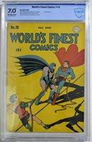 WORLD'S FINEST COMICS #19 CBCS 7.0 Superman Batman 1945 CGC Joker app