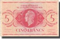 5 Francs Französisch-äquatorialafrika Banknote, 1944, Km:15c