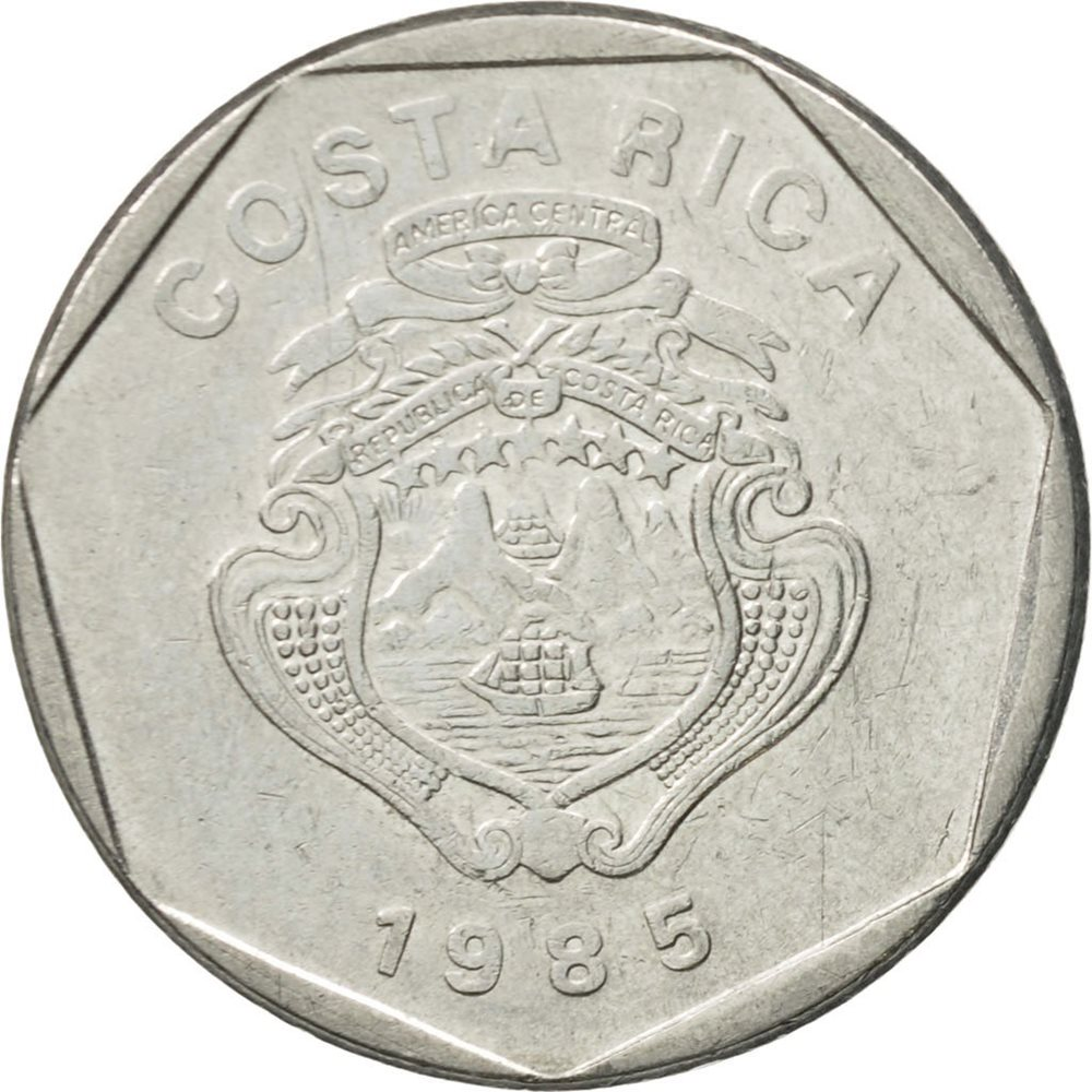 Costa Rica 1985-10 Colones Stainless Steel Coin