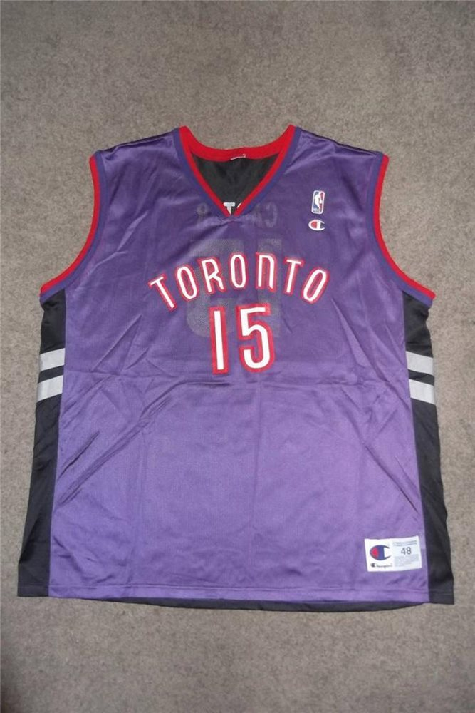 huge selection of 00404 ac9b7 VINCE CARTER 15 Toronto Raptors Jersey NBA Champion Adult 48 Purple Red Used