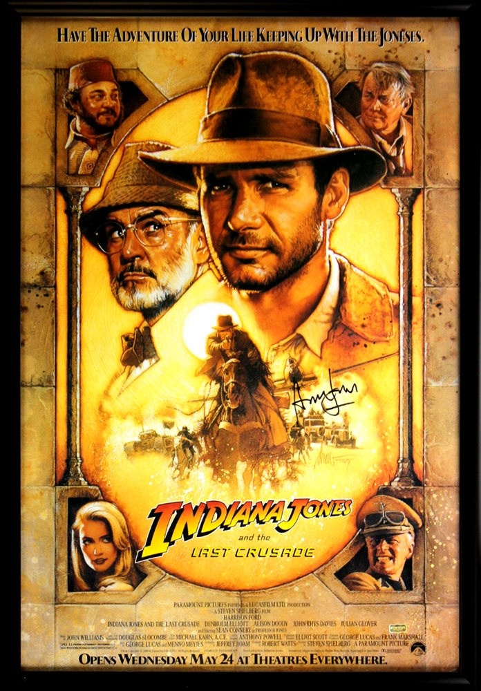 Indiana Jones and the Last Crusade Harrison Ford movie poster print 1989