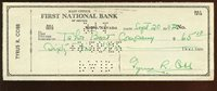 1962 Ty Cobb Autographed Signed Check PSA/DNA LoaCUSTOM FRAME YOUR JERSEY