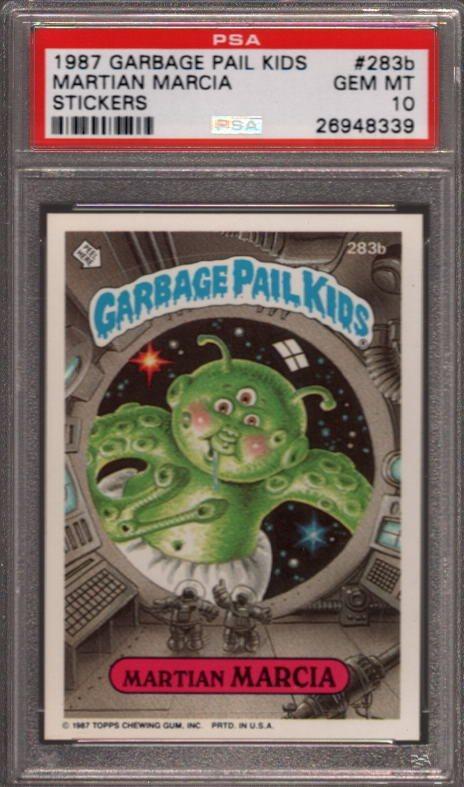 Garbage Pail Kids 1987 #283b Martian Marcia