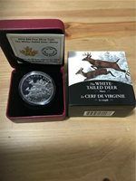 2015 Proof $20 Baby Animals #5-White-tailed Deer Fawn Canada .9999 silver twenty